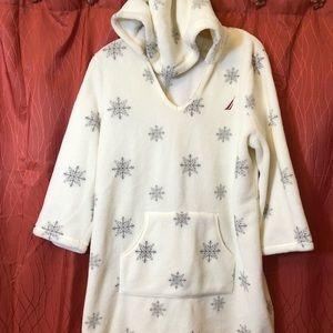 Nautica Long Sleeve Sleep Shirt with Hoodie XL